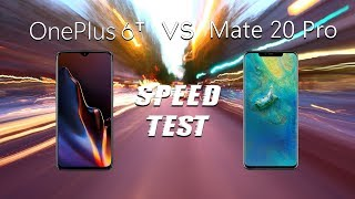 OnePlus 6T vs Huawei Mate 20 Pro: Speed Test