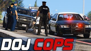 Dept. of Justice Cops #797 - Chasing A Parachuter