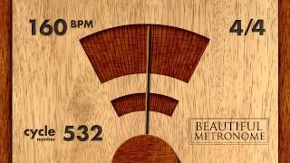 160 BPM 4/4 Wood Metronome HD