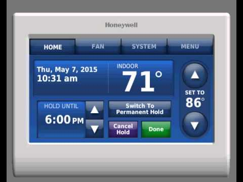 Honeywell Rth9580wf Youtube Ford Wiring Diagrams F150 Prestige Thermostat Basic How To Use Premium