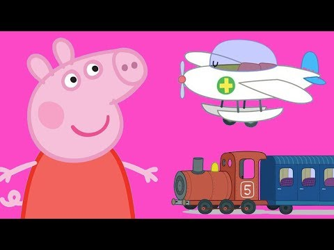 Peppa Pig English - Learn Transport with Peppa and Friends Part 2!