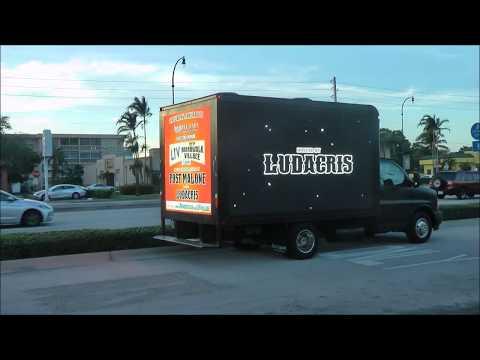 LIV Gulfstream promotion on Mobile Digital LED Billboard Truck