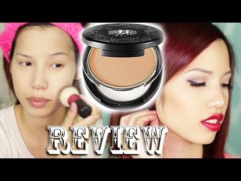 7b914dc289504 Review & Demo | Kat Von D Lock It Powder Foundation - YouTube