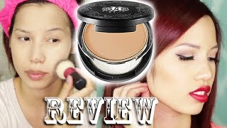 Review & Demo | Kat Von D Lock It Powder Foundation