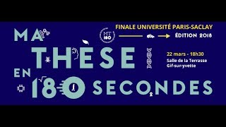 Finale #MT180 2018 en direct | Université Paris-Saclay