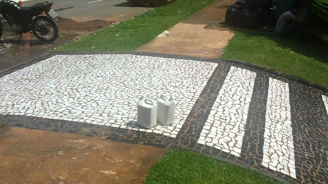 pedras de jardim branca : pedras de jardim branca:LIMPEZA DE PEDRAS PORTUGUESAS MINEIRA BRANCA PÓS OBRA 20140410 130015
