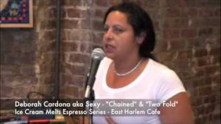 "Ice Cream Melts  Espresso Series Deborah Cardona author of  ""Chained"" - East Harlem Cafe Thumbnail"