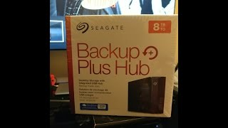 Seagate - Backup Plus Hub 8TB External USB 3.0 Desktop Hard Drive - Black