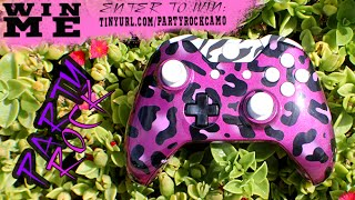 -GIVEAWAY!- Hand Airbrushed Party Rock Camo Xbox One Controller by ProModz.com