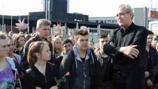 Gedenkminute an Hernes Shoah-Mahnmal,   halloruhrgebiet,   Video: Wolfgang Quickels