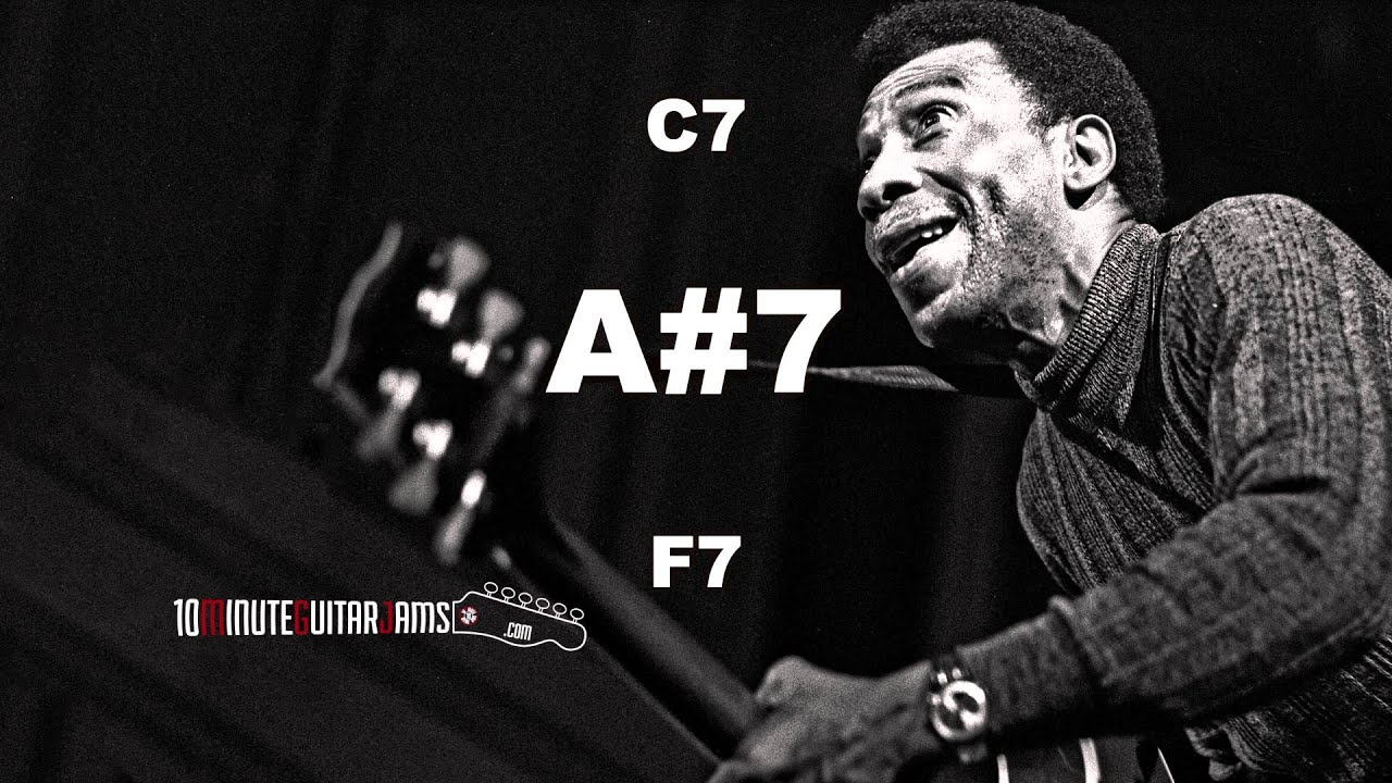 """Slow"""" Blues in F7 – 10 Minute Guitar Backing Track   10"""