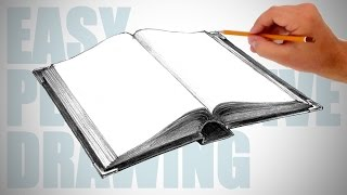 How to draw a book - Easy Perspective Drawing 17