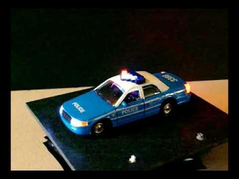 Blue police car