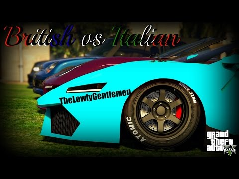 GTA 5 Online British vs Italian Car Meet Up | TheLowlyGentlemen