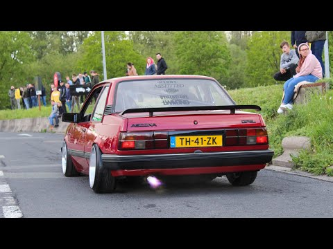 Modified Opel Ascona 88' Shooting Flames, Accelerations & Sounds