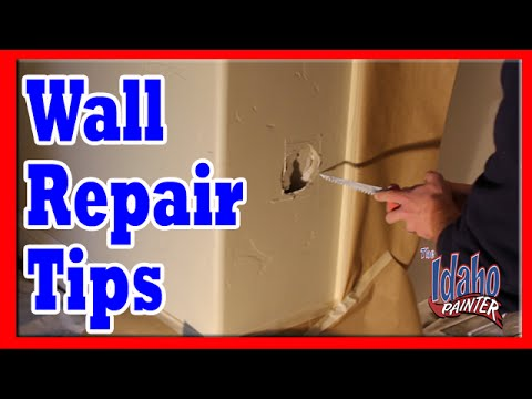How To Patch A Hole In Sheetrock.  Drywall Repairs.