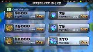 Free Coins and Crystals for Defender for Android Using Freedom