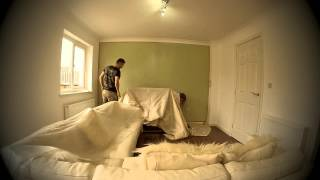 Watching Paint Dry | Painting a wall with Farrow & Ball Cooking Apple Green