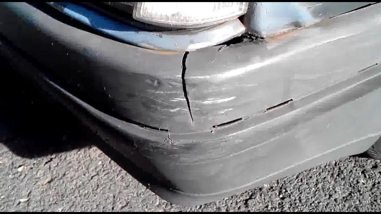 Verrassend Repareren van een bumper met glasvezel - YouTube LO-48