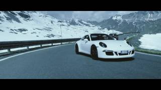 Porsche Stelvio 2017 - Ten Porsches driving on one of Europes highest mountain roads (4k)