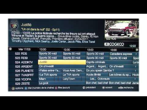 Les fonctions de la télécommande – Service TiVo de Cogeco