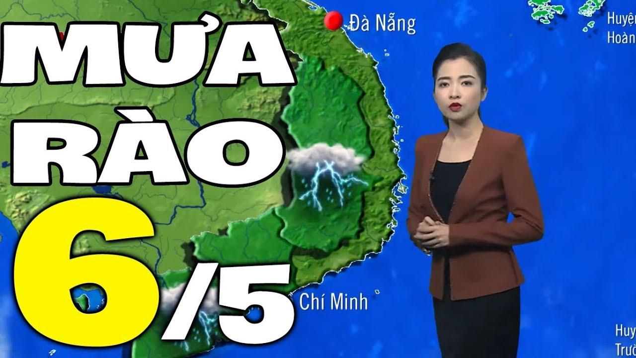 Dự báo thời tiết hôm nay và ngày mai 6/5 | Dự báo thời tiết đêm nay mới nhất