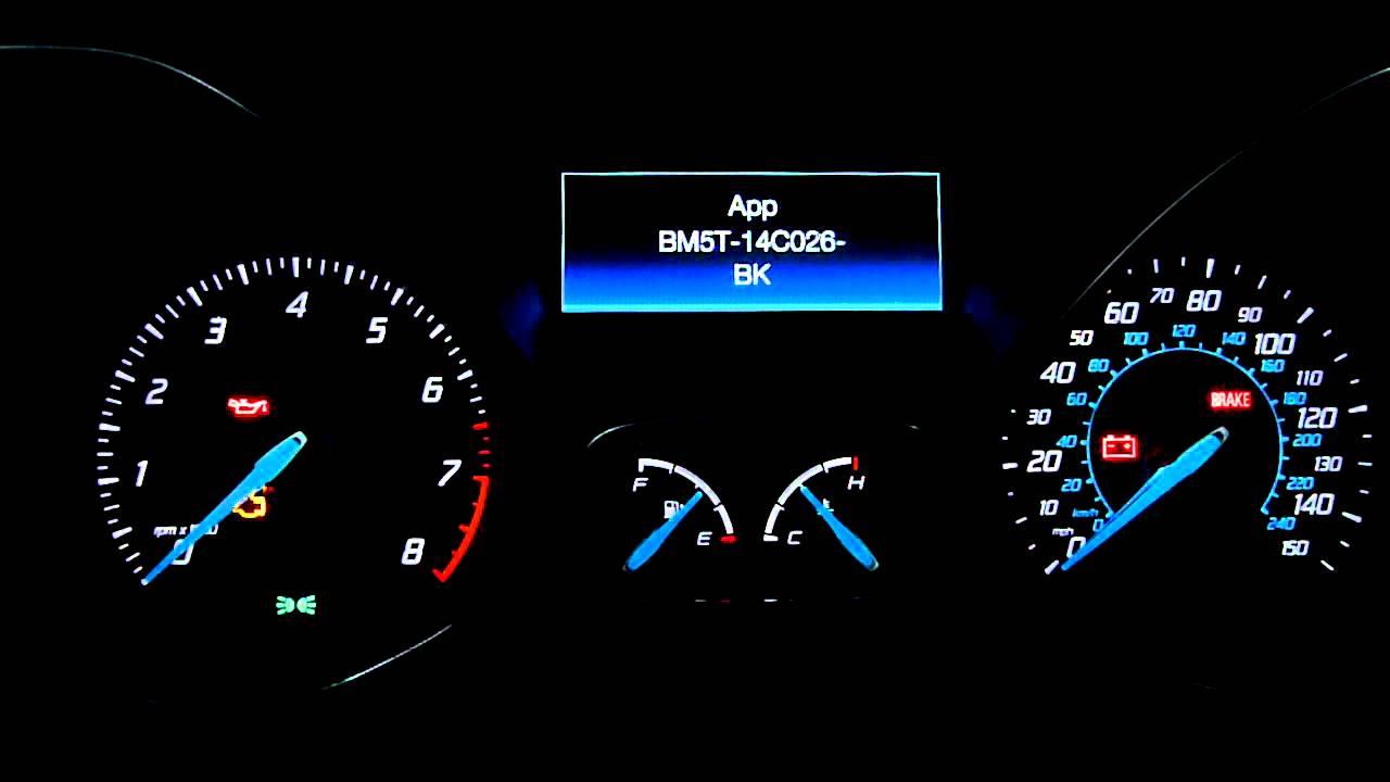 2012 Ford Focus: Gauge & LED test mode