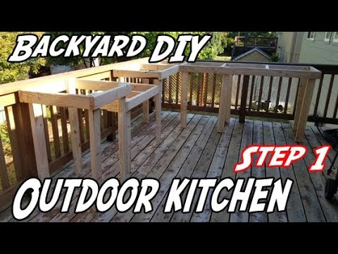 DIY Outdoor Kitchen | How to build an outdoor kitchen | How to build an outdoor kitchen on a budget