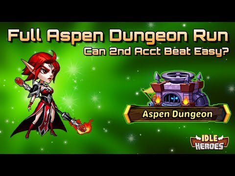 Idle Heroes (O+) - Brave Trial Discussion and Full Aspen Dungeon Run