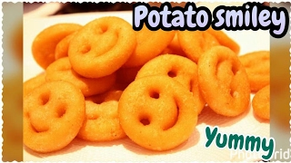Potato Smiley Recipe Homemade Easy Crispy Smiley Cook With Monika