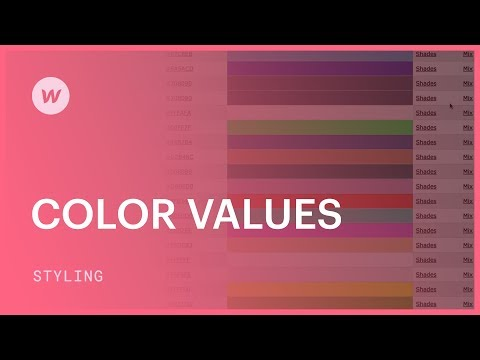Color Values (hex, Rgba, And Color Names) - Webflow CSS Tutorial (using The Old UI)