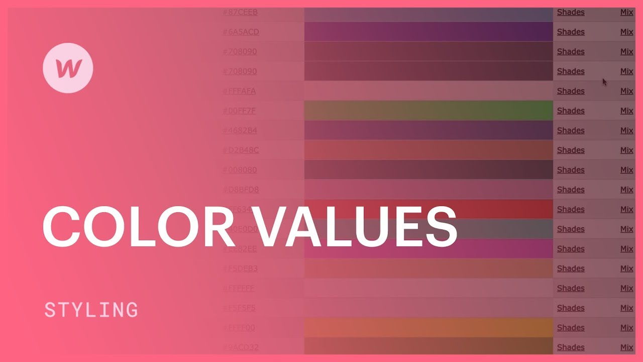 Color picker online rgba - Color Values Hex Rgba And Color Names Webflow Css Tutorial