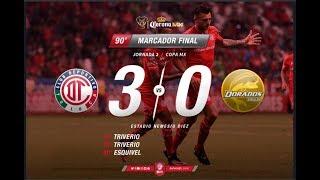 MINEROS NECAXA 1-2 CELAYA PUMAS 1-1 TOLUCA DORADOS 3-0 XOLOS PUEBLA 1-0 COPA MX 2017