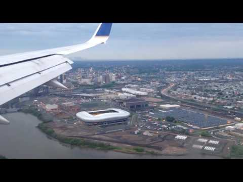 Newark, New Jersey - Landing at Newark Liberty International Airport HD (2016)