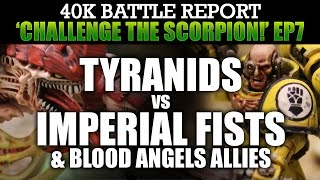 Tyranids vs Imperial Fists Warhammer 40K Battle Report CTS7: BOLTER GUNLINE! 1500pts | HD