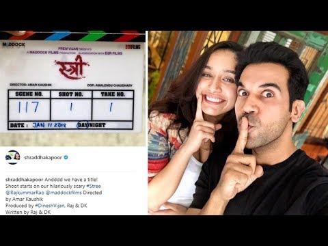 Shraddha Kapoor Begins Shoot Of Stree Film | Latest Bollywood English Gossips 2018