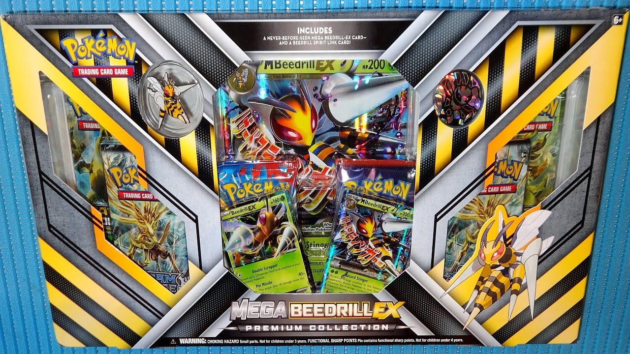 2016 Pok 233 Mon Tcg Mega Beedrill Ex Premium Collection Rare Promo Cards Amp 6 Booster Packs Youtube