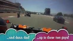 Motorräder parken auf der Ideallinie Nürburgring !!