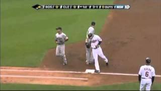 2009/04/29 Lester picks off Sizemore