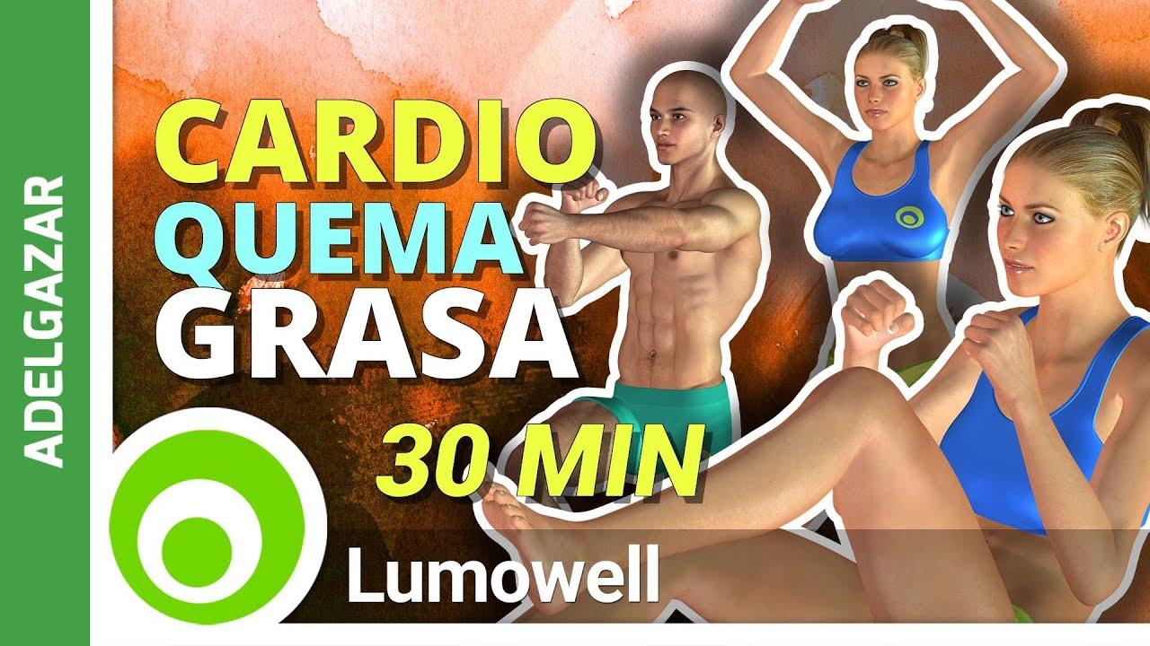 cardio intenso 30 minutos para adelgazar rapido - youtube