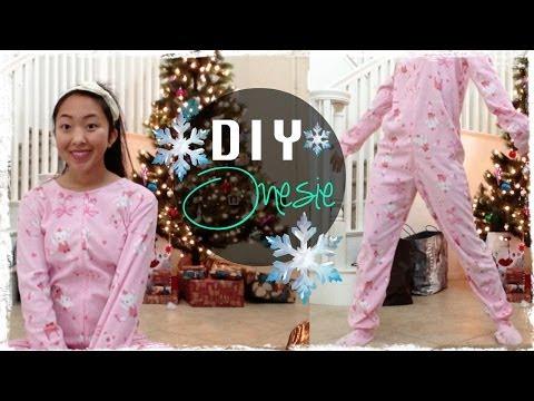 DIY Footed Onesie Pajama