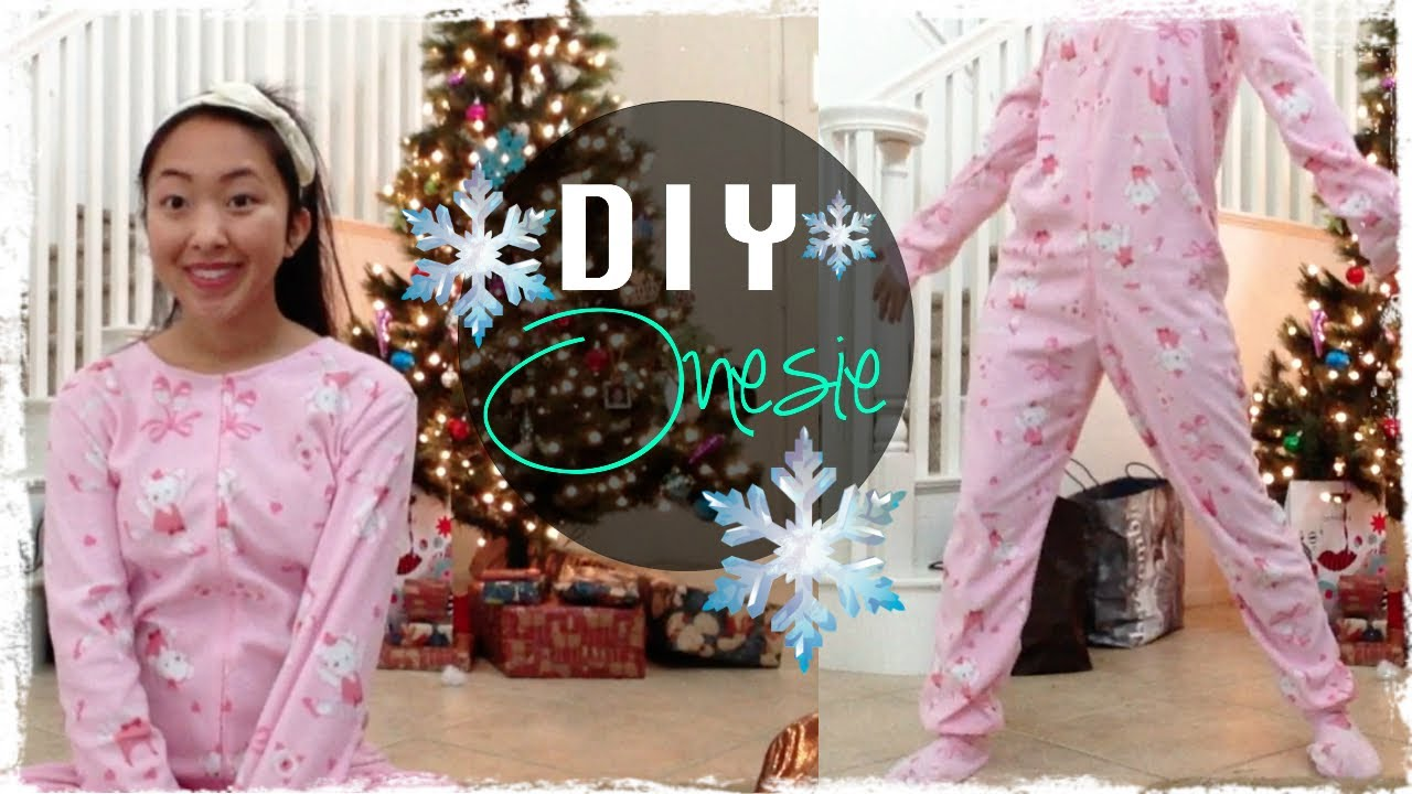 DIY Footed Onesie Pajama - YouTube