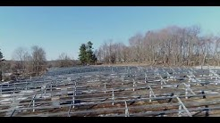 Armonk 2MW solar power plant construction progress, April 2017 – NY, USA