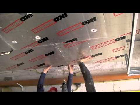 Isolation du plafond d 39 un garage ou d 39 une cave youtube - Isolation des plafonds sous plancher hourdis beton ...
