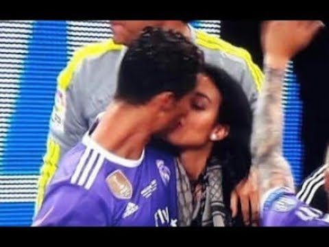 Cristiano Ronaldo and Georgina Rodriguez KISSING after match - YouTube