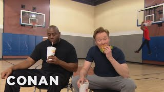 Download Conan Plays Horse With Magic Johnson  - CONAN on TBS Mp3 and Videos