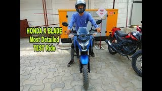 NEW Honda X Blade Test Ride Review  0-60kmph Time 