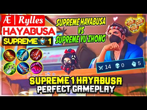 Supreme 1 Hayabusa Perfect Gameplay [ Former Top 1 Global Hayabusa ] Æ | Rylles - Mobile Legends