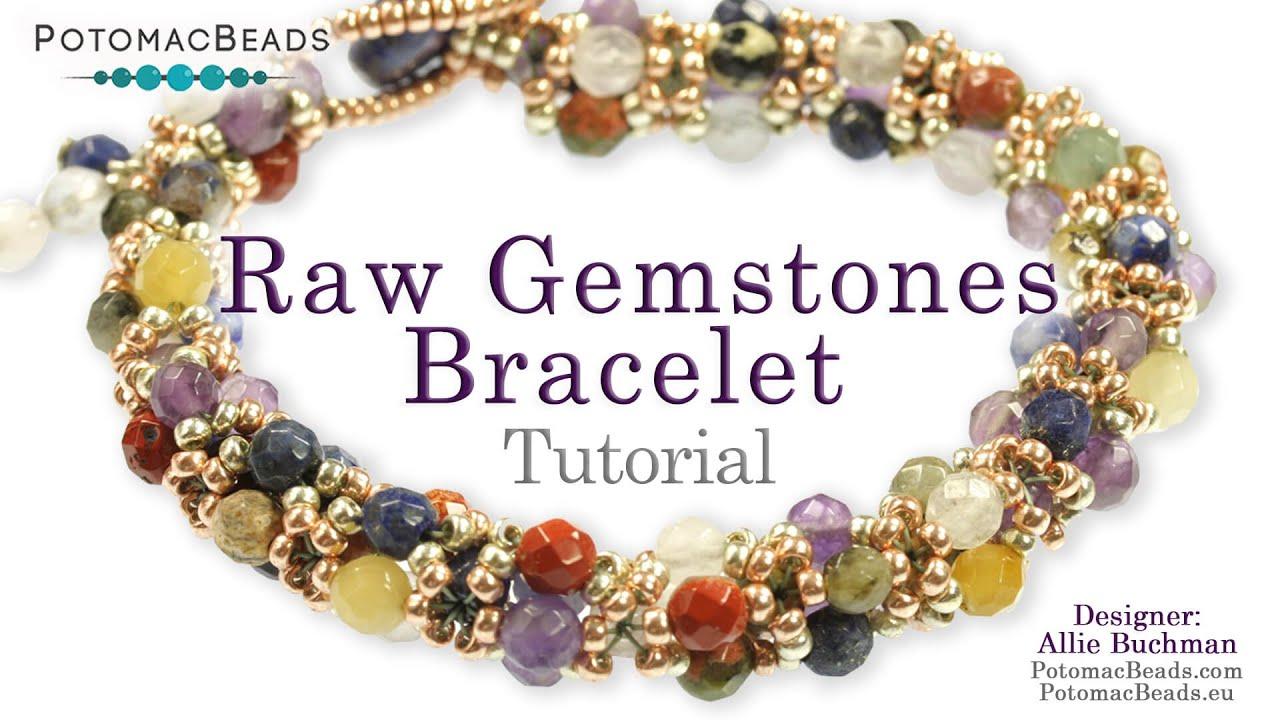 Make A Quot Raw Gemstones Quot Bracelet Youtube