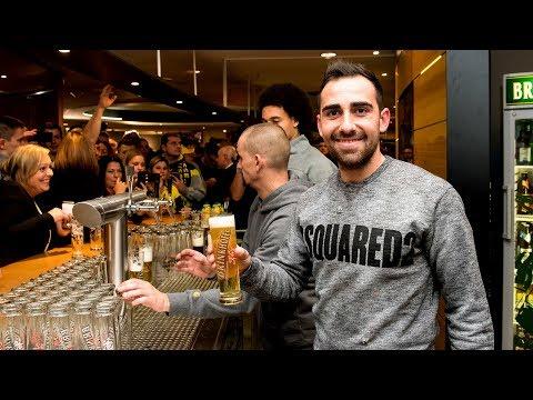 Alcácer, Witsel und Co. zapfen Bier für die Fans | BVB-Fanclub-Weihnachtsfeier 2018